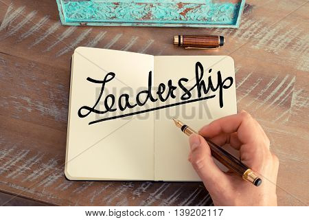 Handwritten Text Leadership