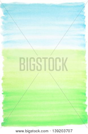 Light watercolor background blue and green colors