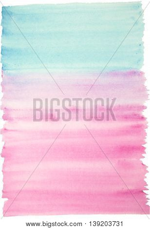Light watercolor background blue and pink colors