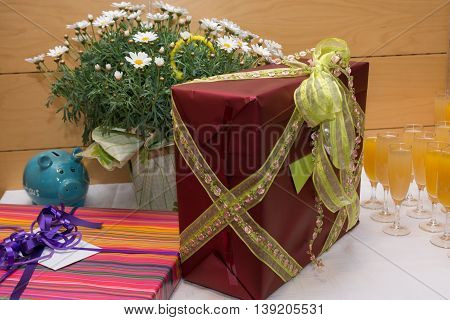 At a ceremony there personal gifts at the table