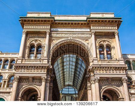 Galleria Vittorio Emanuele Ii Milan Hdr