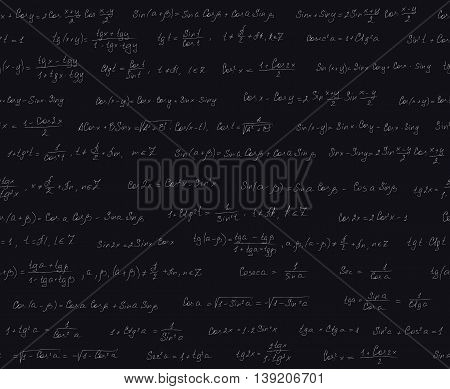 Seamless Pattern With Trigonometric Formulas