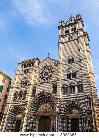St Lawrence Cathedral In Genoa Hdr