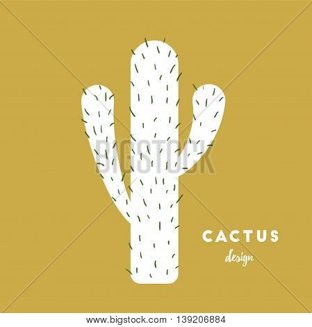 Cactus with needles sketch vector illustration, eps 10