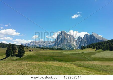 Vista dalle alpi di Siusi - Sasso Lungo e Sasso Piatto - Trentino Alto Adige