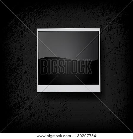 Photo frame. Vector illustration on black background.