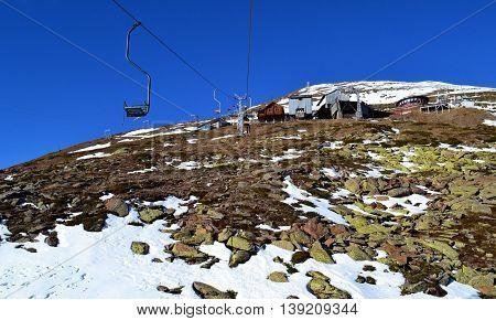 The rise of the Cheget. Elbrus District. Kabardino-Balkar Republic.