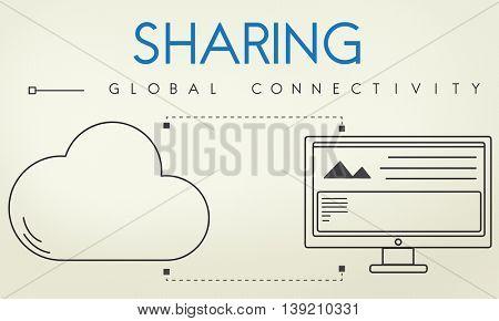 Network Cloud Backup Storage Download Concept