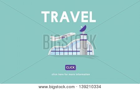 Travel Business Trip Flights Information Concept