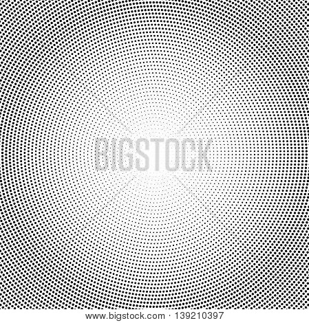 Geometric modern vector pattern. Fine ornament with dotted elements. Black and white pattern