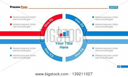 Process chart slide template. Business data. Graph, diagram, design. Creative concept for infographic, templates, presentation, report. Can be used for topics like training, planning, finance.