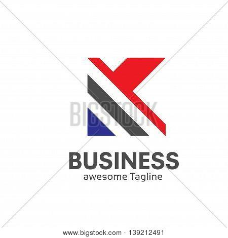 letter K logo design template Business corporate. letter k logo Square shape