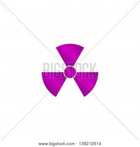 Radiation Symbol. Flat Design Style.