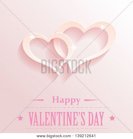 Design with hearts for valentine s day. Vector illustration