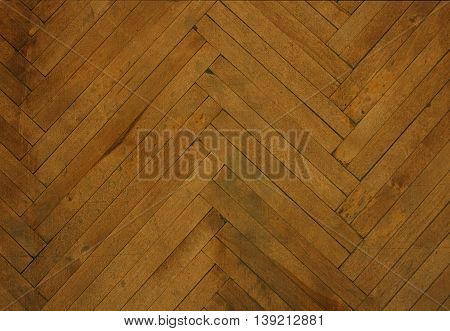 Background from an old parquet. Wooden parquet on a floor