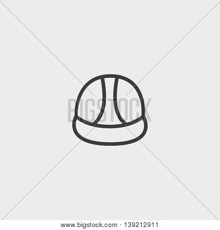Construction helmet icon in a flat design in black color. Vector illustration eps10