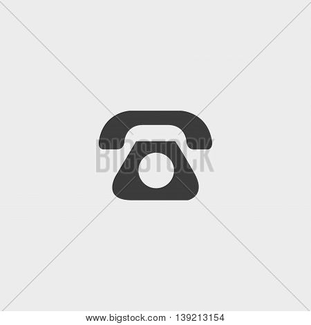 Phone icon in a flat design in black color. Vector illustration eps10