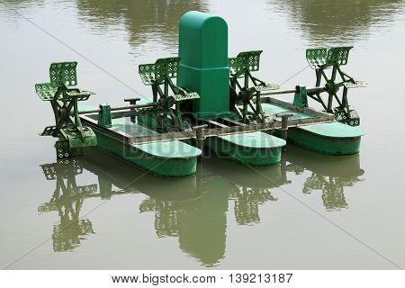 Water turbine for increasing oxygen in the water,Thailand