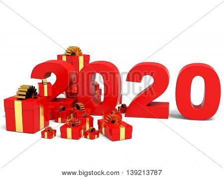 Happy New Year 2020 And Gifts.