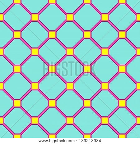 floor tiles pattern, blue pink and yellow colors