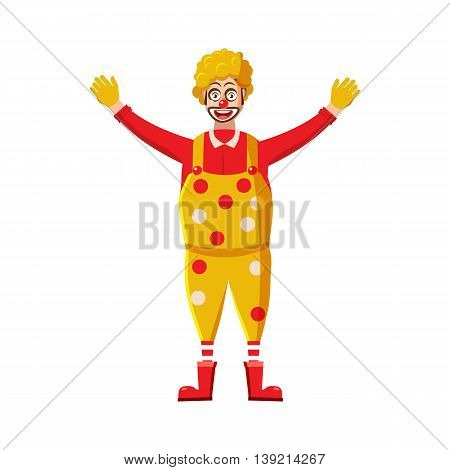 Clown icon in cartoon style on a white background