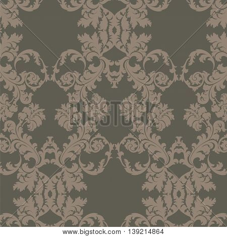 Vector floral damask pattern background. Luxury classic floral damask ornament royal Victorian vintage texture for textile fabric