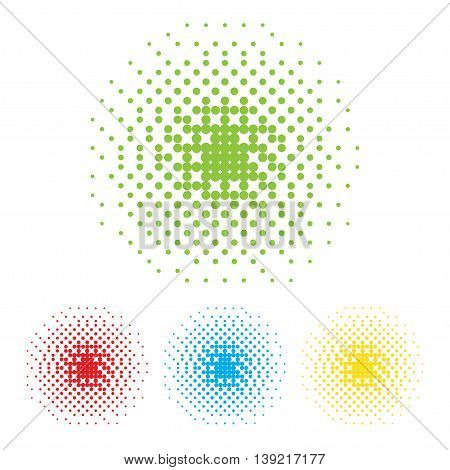 Vector dotted frame. Abstract background. Halftone effect