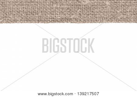 Textile tissue, fabric image, brown canvas, color material flat background