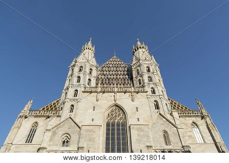 Exterior Of St. Stephen's Cathedral, Vienna, Austria