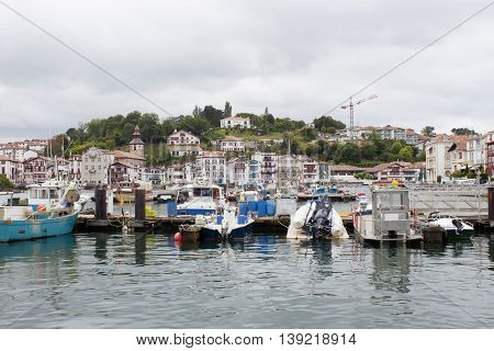 Port near a neighbourhood in Saint Jean de Luz France
