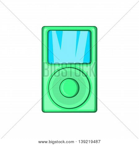 Mp3 player icon in cartoon style on a white background