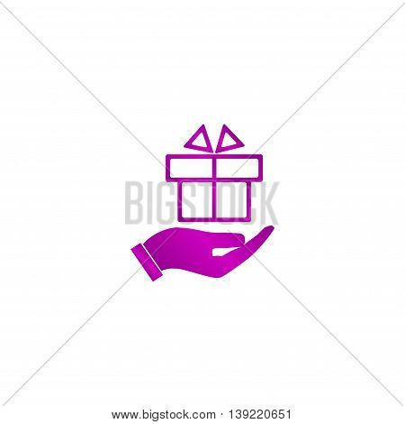 Hand And Gift Vector Icon
