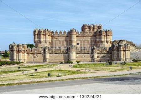 Coca Castle (Castillo de Coca) is a fortification constructed in the 15th century and is located in Coca in Segovia province Castilla y Leon Spain.