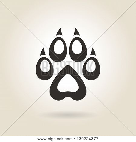 icon dog trail on a light background