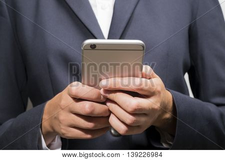Businessman Using A Smart Mobile Phone