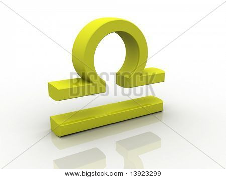 Digital illustration of Zodiac symbol in white background