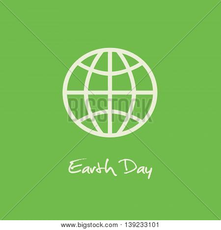 Simple Earth Day April 22 graphic with green background.