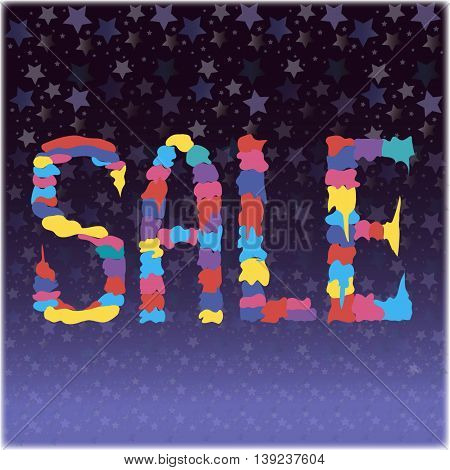 Sale,  art multicolor  illustration, vector abstracted graphic