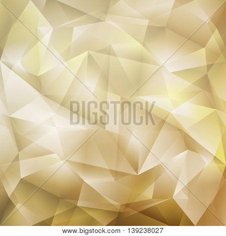 Abstract Crystal Geometric Cut Paper Brown Background
