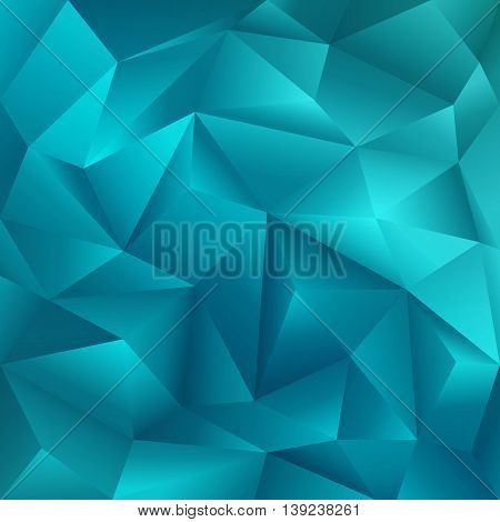 Abstract Crystal Geometric Cut Paper Blue Background