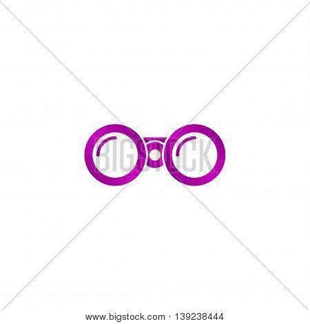 Binocular Icon. Flat Design Style