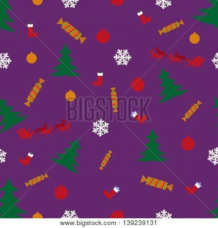 snowflake pattern presents santa tree toy airplane