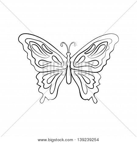 Fantasy butterfly on white background. Abstract design. Vector illustration.