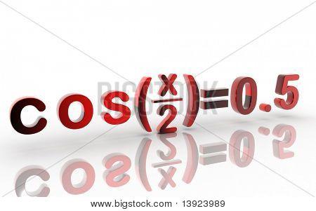 Digital illustration of letter in white background