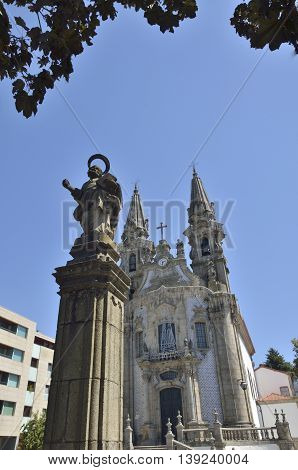 Church of Saint Gualter in Guimaraes Portugal.