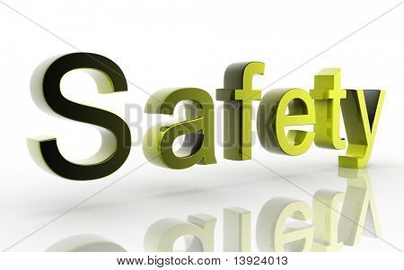 Digital illustration of Safety in white background
