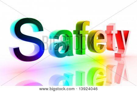 Digital illustration of Safety in white background