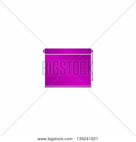 Louvers Rolls Sign Icon. Window Blinds Or Jalousie Symbol. Circle Flat Button With Shadow.