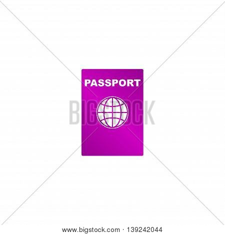 Passport Icon. Vector Concept Illustration For Design