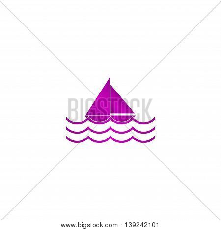 Boat And Sea Wave Icon